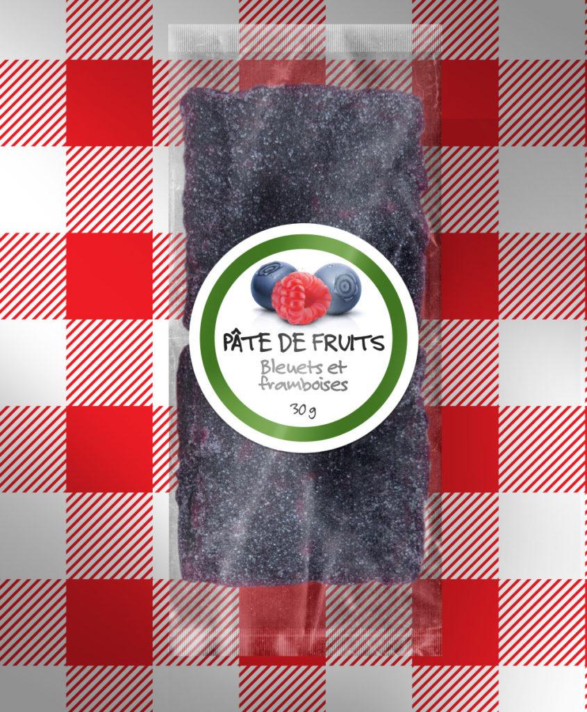 Pâte de fruits aux bleuets et framboises 91 % bio