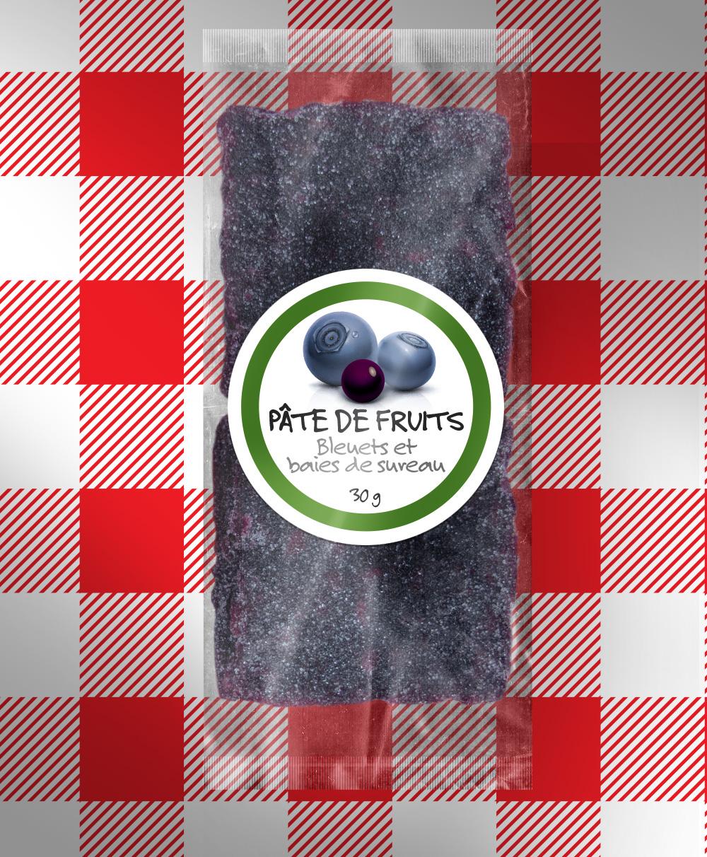 Pâte de fruits aux bleuets et baies de sureau 91 % bio