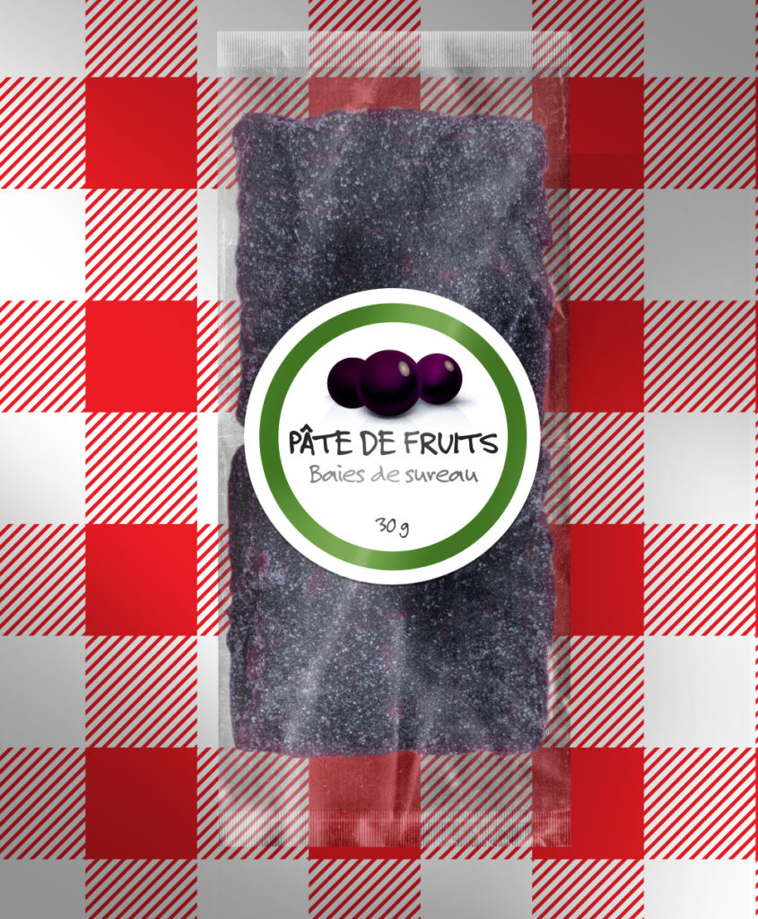 Pâte de fruits aux baies de sureau 91 % bio